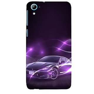 ifasho Purple car Back Case Cover for HTC Desire 828