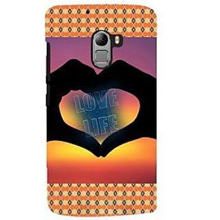 ifasho Love life heart shape made by hand  Back Case Cover for Lenovo K4 Note