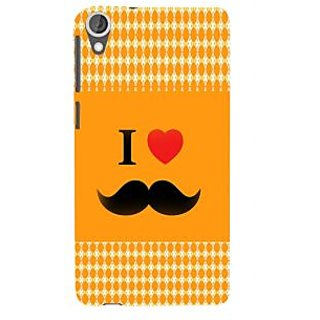 ifasho I love Moustache Back Case Cover for HTC Desire 820