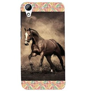 ifasho Brown Horse Back Case Cover for HTC Desire 626
