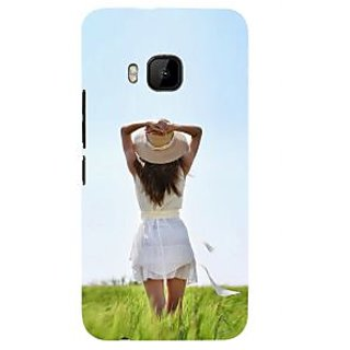 ifasho Girl waiting Back Case Cover for HTC One M9