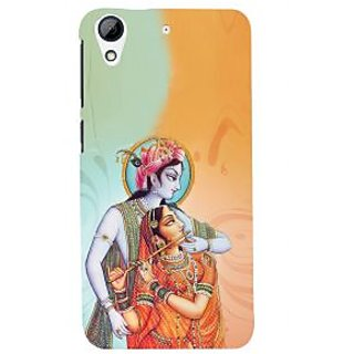 ifasho Lord Krishna and Meera Back Case Cover for HTC Desire 728