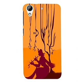 ifasho Lord Krishna with Flute animation Back Case Cover for HTC Desire 728
