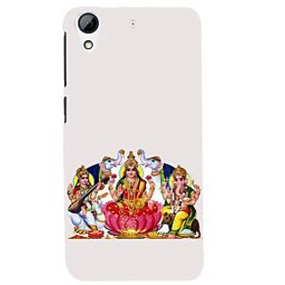 ifasho Laxmi Saraswati and Ganesh Back Case Cover for HTC Desire 728