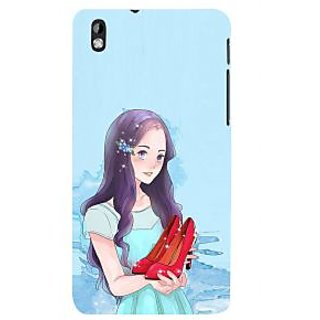 ifasho Girl with sandle in hand Back Case Cover for HTC Desire 816