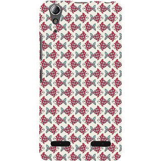 ifasho Modern Art Design Pattern Lot of fish Back Case Cover for Lenovo A6000 Plus