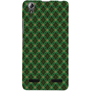 ifasho Pattern green red and black flower design Back Case Cover for Lenovo A6000