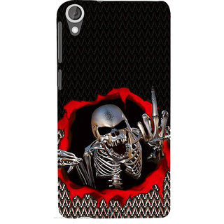 ifasho Modern  Design skeleton Pattern Back Case Cover for HTC Desire 820