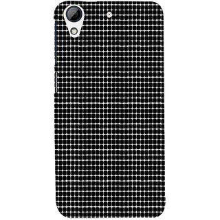ifasho Animated Pattern  equal size Circle black and white Back Case Cover for HTC Desire 626