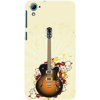 ifasho Modern Art Design Pattern Music Ins3Dument Guitar Back Case Cover for HTC Desire 828