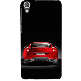 ifasho Red Stylish Car from back side Back Case Cover for HTC Desire 820