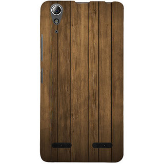 ifasho Brown Wooden Pattern Back Case Cover for Lenovo A6000 Plus