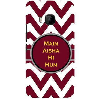 ifasho Main Aisha hi hun in quote in arrows Back Case Cover for HTC One M9