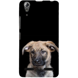 ifasho Grey Dog Back Case Cover for Lenovo A6000 Plus