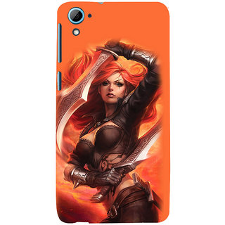ifasho Girl with blade animated Back Case Cover for HTC Desire 826