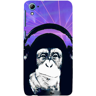 ifasho Monkey with headphone Back Case Cover for HTC Desire 826