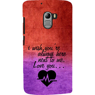 ifasho Love Quote Back Case Cover for Lenovo K4 Note
