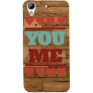 ifasho Quote On Love you and me Back Case Cover for HTC Desire 626