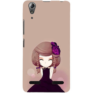 ifasho Girl  with Flower in Hair Back Case Cover for Lenovo A6000