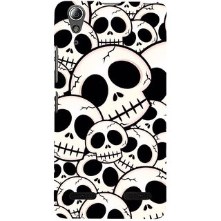 ifasho Modern  Design skeleton Pattern Back Case Cover for Lenovo A6000 Plus