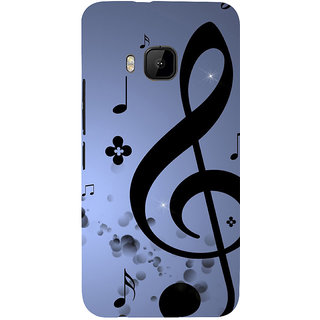 ifasho Modern Art Design Pattern Music symbol Back Case Cover for HTC One M9