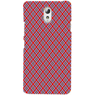 ifasho Colour Full Square Pattern Back Case Cover for Lenovo Vibe P1M
