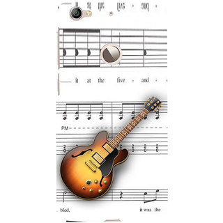 ifasho Modern Art Design Pattern Music Ins3Dument Guitar Back Case Cover for LeTV 1S