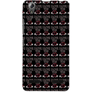 ifasho Animated Pattern With Love and heart and I love you Back Case Cover for Lenovo A6000 Plus