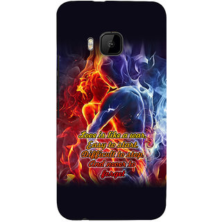 ifasho Love Quotes for love Back Case Cover for HTC One M9
