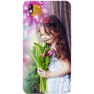 ifasho Girl with flower in hand Back Case Cover for HTC Desire 816