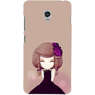 ifasho Girl  with Flower in Hair Back Case Cover for Lenovo Vibe P1