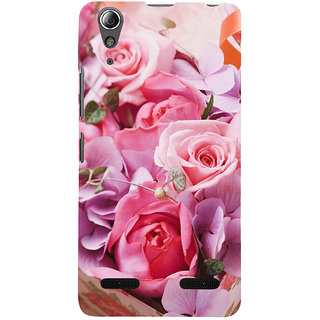 ifasho Red Rose Back Case Cover for Lenovo A6000 Plus