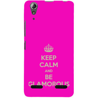 ifasho Nice Quote On Keep Calm Back Case Cover for Lenovo A6000 Plus
