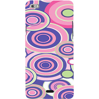 ifasho Animation Clourful Circle Pattern Back Case Cover for Micromax Canvas Sliver 5 Q450