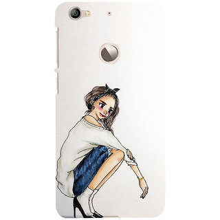 ifasho Sitting Girl Back Case Cover for LeTV 1S