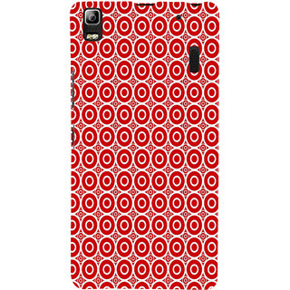 ifasho Animation Clourful white Circle on red background Pattern Back Case Cover for Lenovo A7000
