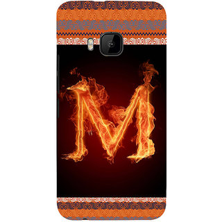 ifasho alphabet name series M Back Case Cover for HTC One M9