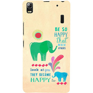 ifasho life Quotes on happiness Back Case Cover for Lenovo A7000