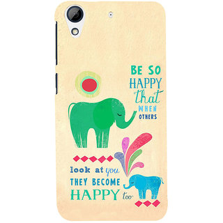 ifasho life Quotes on happiness Back Case Cover for HTC Desire 728
