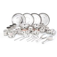 33PC STAINLESS STEEL DINNER SET