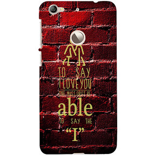 ifasho Love Quotes I love you Back Case Cover for LeTV 1S