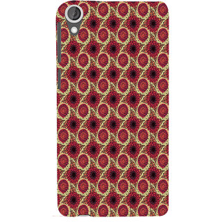 ifasho Animated Pattern design flower with leaves Back Case Cover for HTC Desire 820