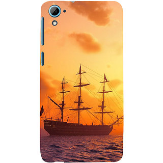 ifasho Ship in See at sunset Back Case Cover for HTC Desire 828