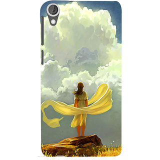 ifasho Girl waiting art work painting Back Case Cover for HTC Desire 820