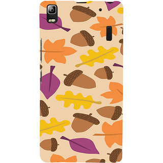 ifasho Animated Pattern colrful design leaves and nuts Back Case Cover for Lenovo A7000