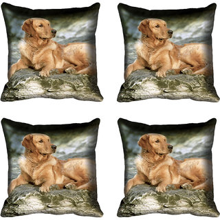 meSleep Dog Digital printed Cushion Cover (16x16)