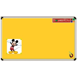 Yellow Sporty Magnetic Notice Board (6 feet x 4 feet) by BoardRite