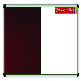 White Board and Notice Board Combination (4 feet x 3 feet) by BoardRite