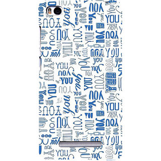 ifasho You letter pattern Back Case Cover for Redmi Mi4i