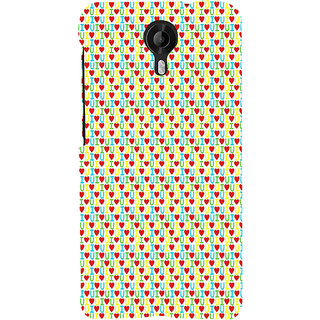 ifasho Animated Pattern With Love and heart and I love you Back Case Cover for Micromax CanvasNitro3E455